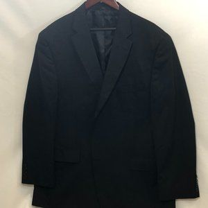 Haggar Black Pin Stripe Suit Jacket